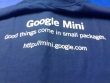 Google Mini tee-shirt (back)