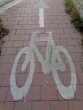 Cycle path marking