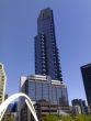 View of Eureka Tower from the Flinders Street side of the Southgate footbridge