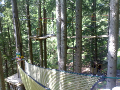 Adventure course in the trees — Les Planards, Chamonix