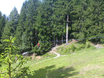 Flying fox — Les Planards, Chamonix