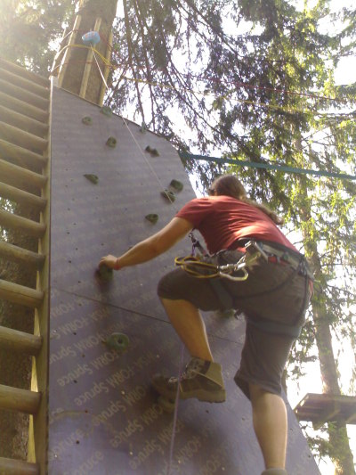 Artificial rock climbing — Les Planards, Chamonix
