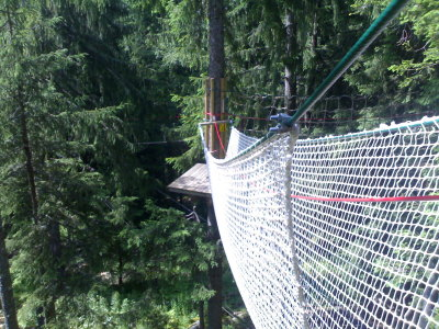 Squishy elastic rope net thing — Les Planards, Chamonix