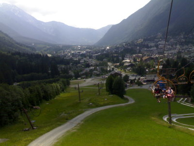 View of Chamonix from Les Planards chairlift — Les Planards, Chamonix