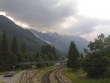 Storm clouds around Chamonix Valley