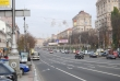 Khreshchatyk_Boulevard with parked cars and Soviet decoration