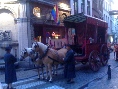 Horse and carriage on Rue de la Tete d'Or