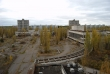 Pripyat - Hotel Polissya - View of main square and cultural centre