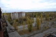 Pripyat - Hotel Polissya - View of main square and main road