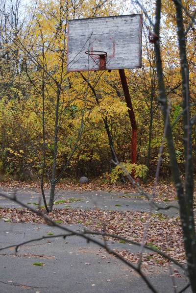 Pripyat - School - Playground Basketball Court with ball