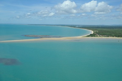 Ponta viewed from the air  (Corumbau, Bahia, Brazil)