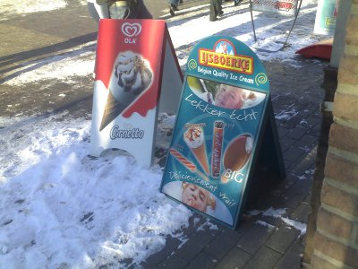 Winter ice cream