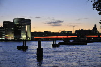 London Bridge over the Thames in the evening