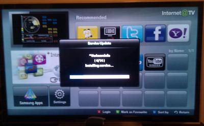 Samsung Internet@TV updating