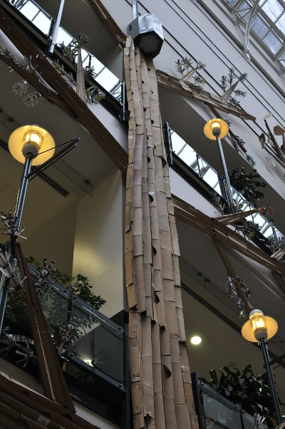 Eaton Centre (Underground City) Recycling Display - Cardboard tree